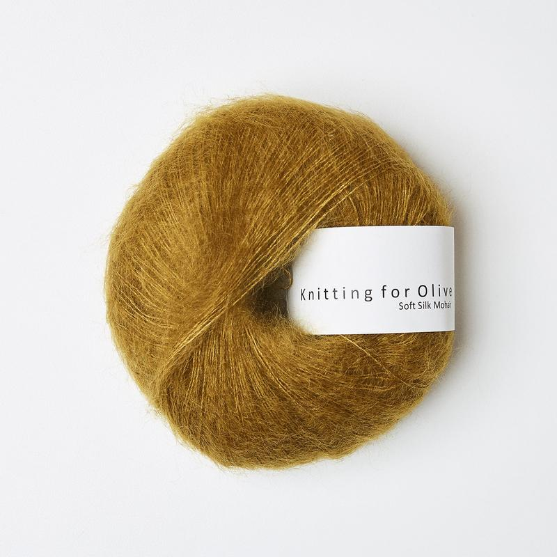 Soft Silk Mohair Dark Mustard