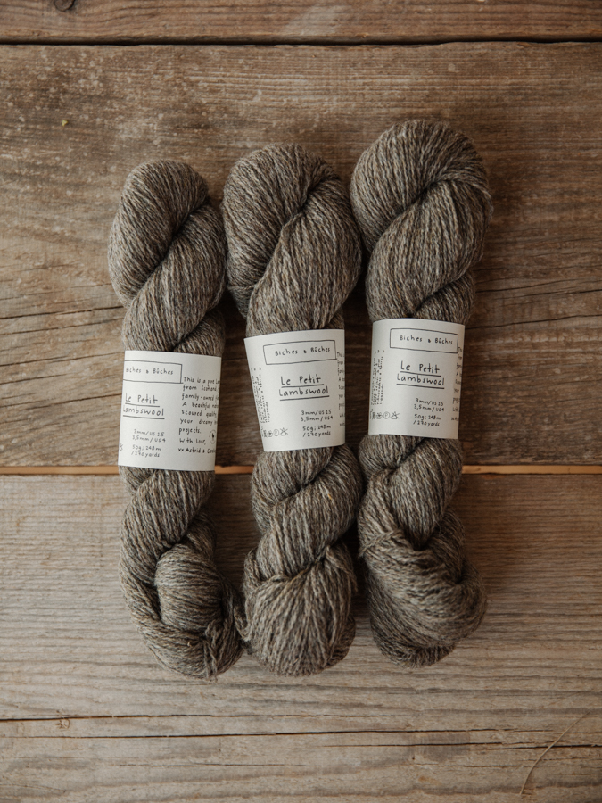 Le Petit Lambswool Grey Brown