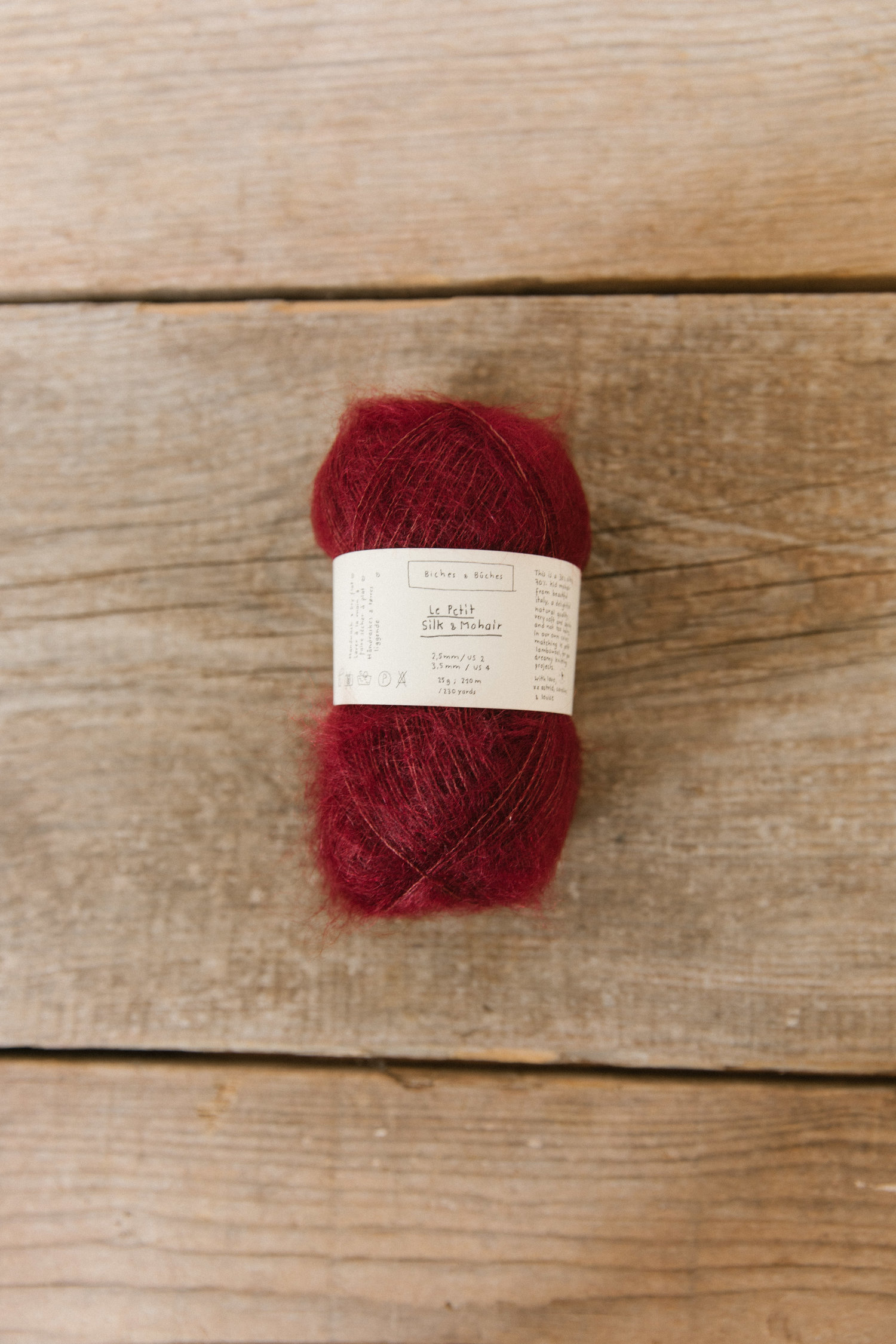 Le Petit Silk & Mohair Dark Red