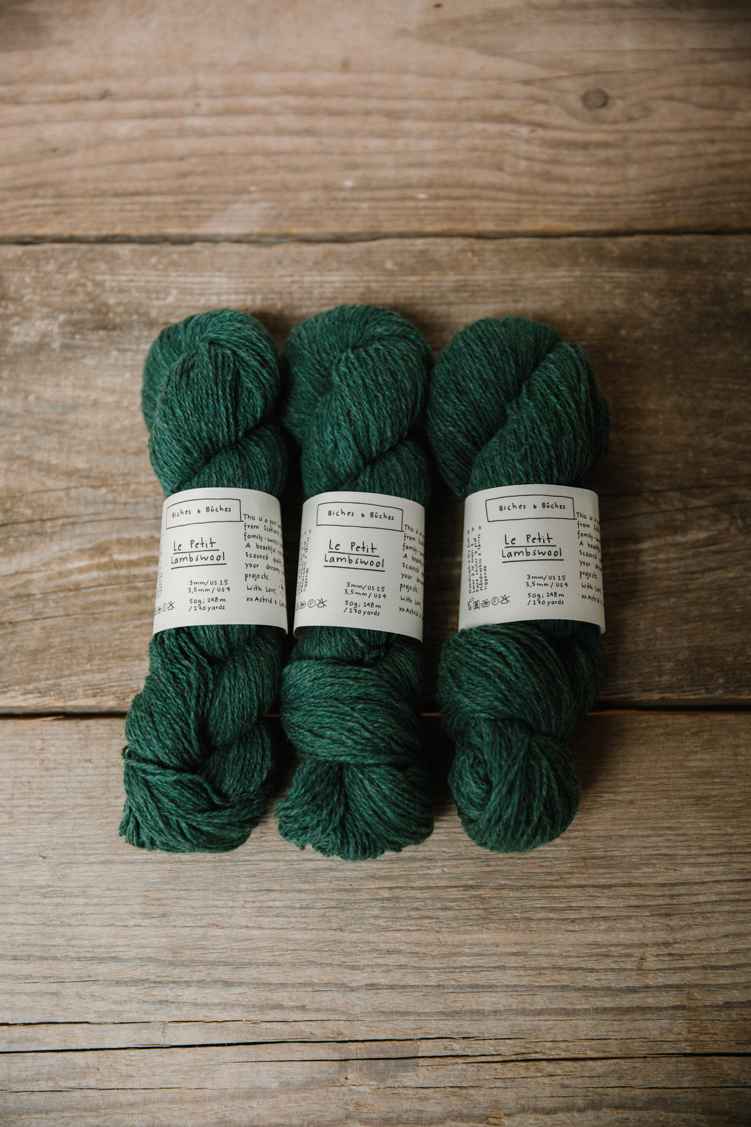 Le Petit Lambswool Forest Green