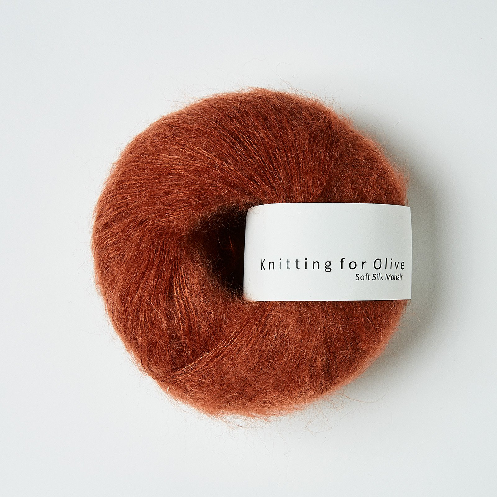 Soft Silk Mohair Rust