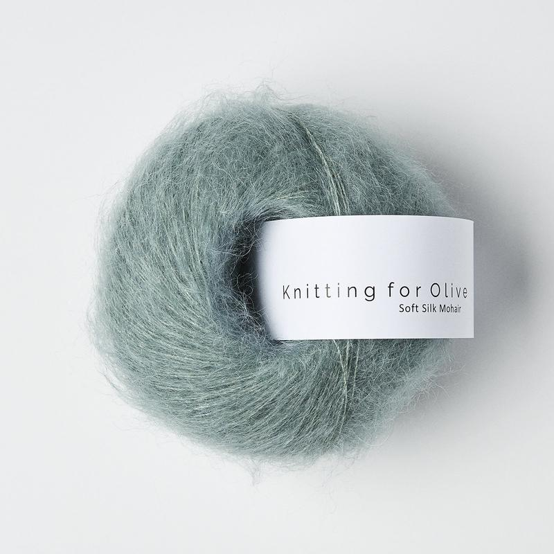 Soft Silk Mohair Dusty Aqua