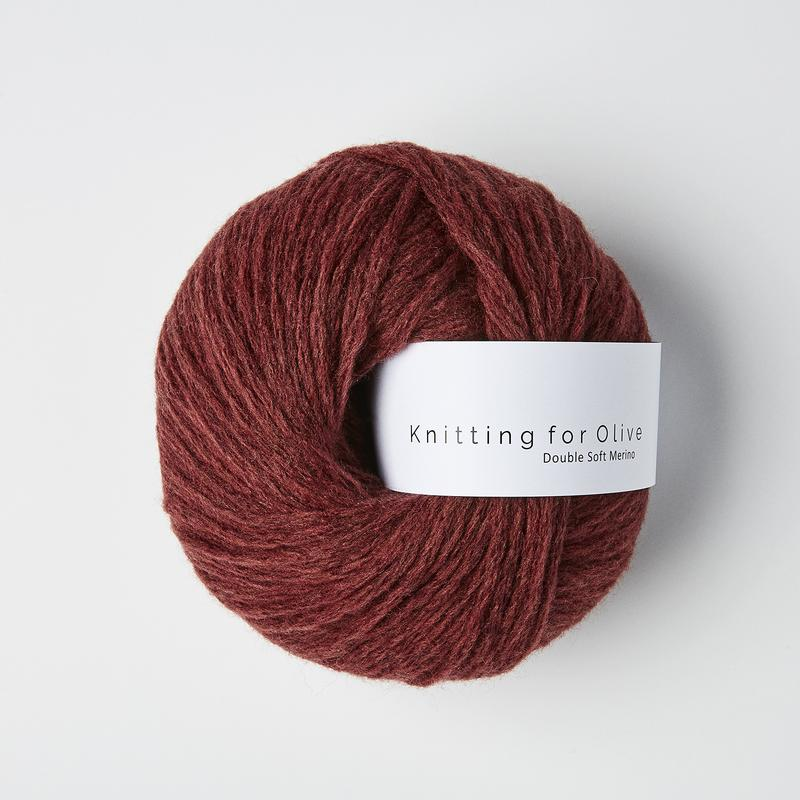 Double Soft Merino Claret