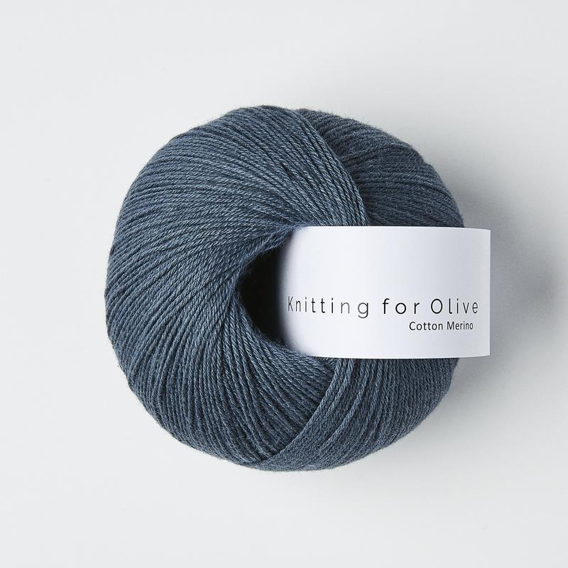 CottonMerino Dusty Blue Whale