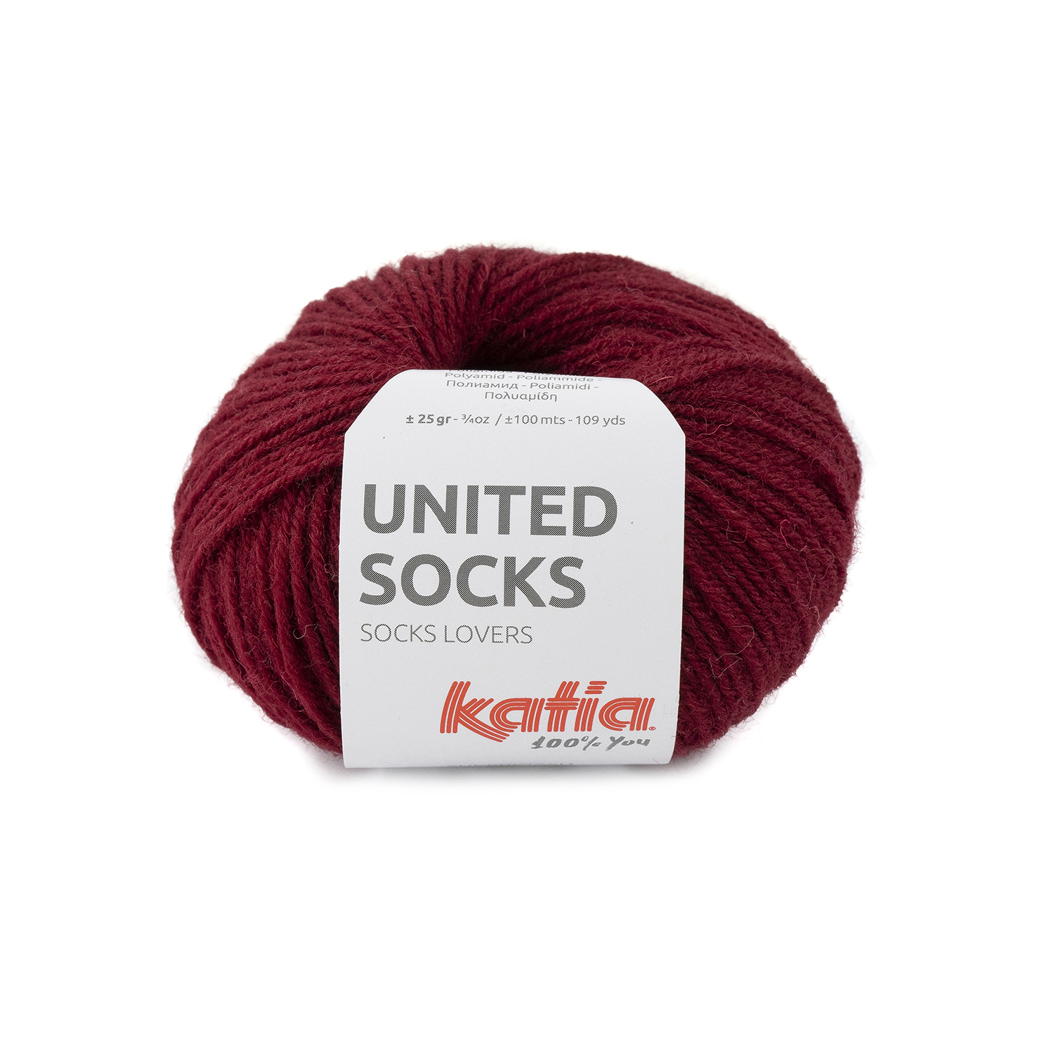 United Socks 16 Burgundy red