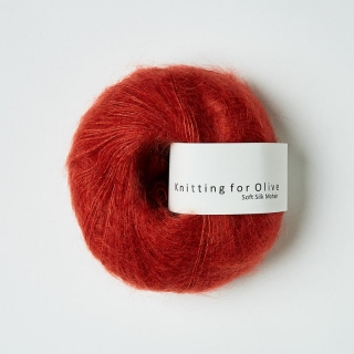 Soft Silk Mohair Pomegranate
