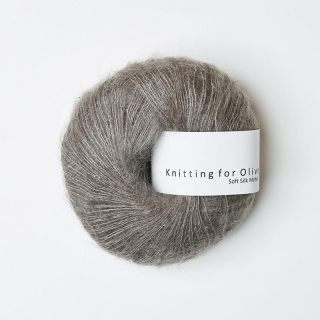 Soft Silk Mohair Grayish Brown