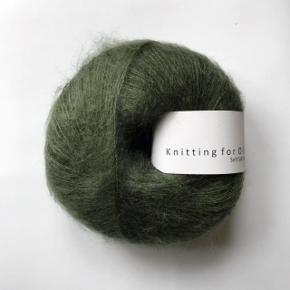 Soft Silk Mohair Bottle Green