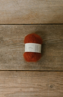 Le Petit Silk & Mohair Dark Orange Grey