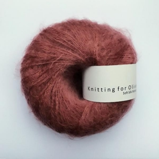 Soft Silk Mohair Plum Rose